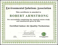 Certified Indoor Air Quality Technician (CIAQT)